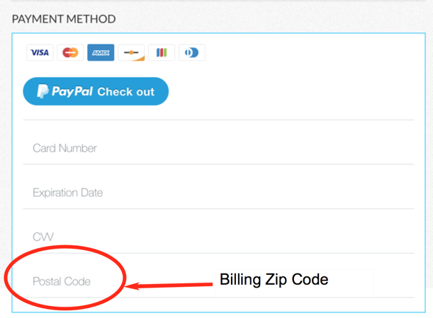 What Is Billing Zip Code Credit Card Address Zip Code